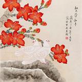 凌雪 四尺斗方《繁荣和平》 北京美协会员