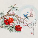 凌雪 四尺斗方《花好月圆》 北京美协会员