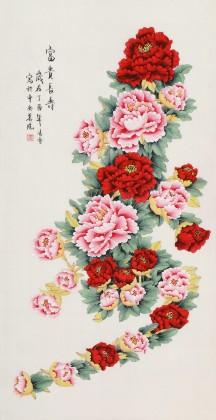 【已售】凌雪 四尺《富贵长寿》 北京美协会员