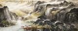 【已售】李碧峰 小八尺《松涧饮马图》 中国书画家协会理事