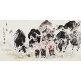 尹和平 四尺《童年》 当代乡土童趣绘画名家