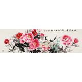 【已售】王宝钦 四尺对开《花开富贵》 当代花鸟牡丹花名家(询价)