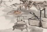 何军委 四尺《蕉荫高士图》 中美协会员 人物画名家