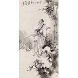 何军委 四尺《竹畔行吟图》 中美协会员 著名画家