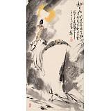 魏武双三尺国画《邀月图》(询价)