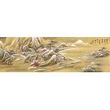 何实 1.5米《闲来向壁看杨花》吉林著名山水画家