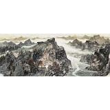 管旺林 小六尺《秋日凝翠岭》 广西省美协会员 学院派画家