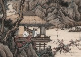 【已售】吴显刚 《松亭观泉图》 贵州七星关美协主席