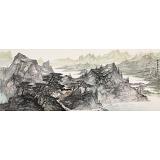 管旺林 小六尺《家在苍岭翠微间》 广西省美协会员 学院派画家