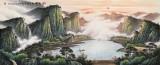 张慧仁 小八尺《紫气东来》 广西山水画家协会常务理事