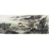 管旺林 小六尺《波上寒烟翠》 广西省美协会员 学院派画家