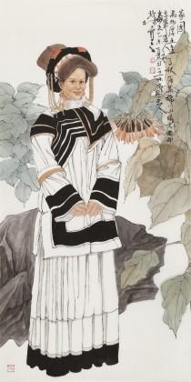 荆兆林 四尺《家园》 著名军旅画家 中美协会员