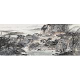 管旺林 小六尺《山居图》 广西省美协会员 学院派画家