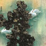 张增丽 四尺斗方《碧湖鹅趣图》 中美协会员 中国画院画家