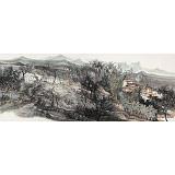 管旺林 小六尺《陌上春来早》 广西省美协会员 学院派画家