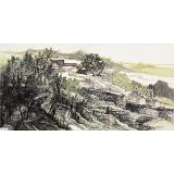 管旺林 四尺《牛头山居图》 广西省美协会员 学院派画家