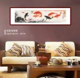周升达 四尺对开《富贵久鱼》 中国画院国画组长(询价)