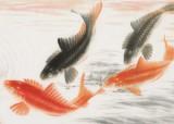 【已售】周升达 四尺《富贵久鱼》 中国画院国画组长(询价)