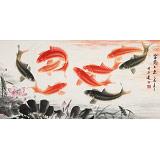 周升达四尺《富贵久鱼》中国画院国画组长(询价)