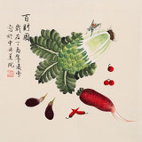 凌雪 三尺斗方《百财图》 北京美协会员
