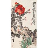 曲逸之 三尺《富贵神仙品》 中国美术学院著名花鸟画家