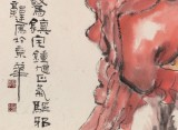 郭廷 四尺斗方《避邪降福》 当代独具特色的水墨人物名家(询价)