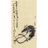 周自豪 三尺招财图《白菜》 当代著名禅意画家