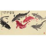 周自豪 三尺《六顺有余图》 当代著名禅意画家