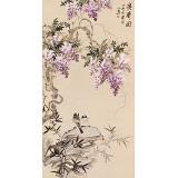 皇甫小喜 四尺《双寿图》 河南著名花鸟画家