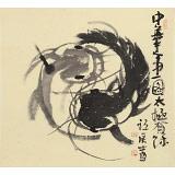 周自豪 三尺斗方《太极有鱼图》 当代著名禅意画家