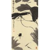 周自豪 三尺水墨荷花图《荷塘月色》 当代著名禅意画家