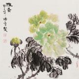 李胜春三尺斗方牡丹画《雅香》