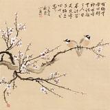 皇甫小喜 四尺斗方《雪梅》 河南著名花鸟画家