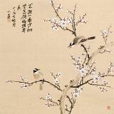 【已售】皇甫小喜 四尺斗方《怎得梅花扑鼻香》 河南著名花鸟画家