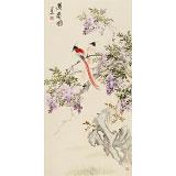 皇甫小喜 三尺《双寿图》 河南著名花鸟画家