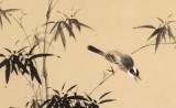 【已售】皇甫小喜 四尺斗方《竹雀报平安》 河南著名花鸟画家