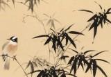 皇甫小喜 四尺斗方《竹鹊图》 河南著名花鸟画家