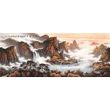 张慧仁 小八尺《秋山观瀑图》 广西山水画家协会常务理事