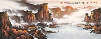 张慧仁 小六尺《金秋神韵图》 广西山水画家协会常务理事