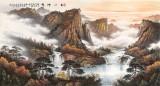 张慧仁 六尺《秋山神韵》 广西山水画家协会常务理事