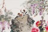 【已售】王宝钦 小六尺《玉堂富贵 紫气东来》当代花鸟牡丹画名家(询价)