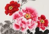 王宝钦 三尺《富贵祥和》当代花鸟牡丹画名家(询价)