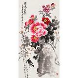 王宝钦 三尺《国色天香》当代花鸟牡丹画名家