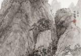 赵开新 四尺斗方《山水清音图》中美协会员 国家画院画家(询价)