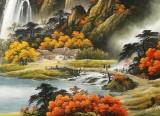 【已售】杨铭昌 小八尺《一帆风顺》 安徽山水画研究协会理事