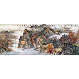 【已售】蒋元发 小六尺《秋山帆影》 广西著名山水画家