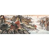 蒋元发 小六尺《秋韵图》 广西著名山水画家