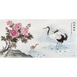 朱祖义 四尺《秋池仙影》 中国老子书画院副院长