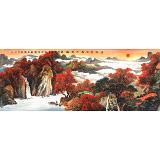 【已售】蒋元发 小六尺《层林尽染 万山红遍》 广西著名山水画家