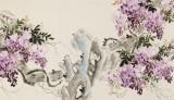皇甫小喜 六尺对开《紫气东来》 河南著名花鸟画家